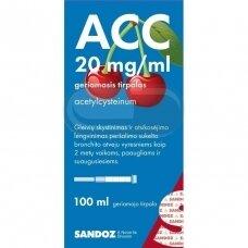 ACC 20 mg/ml geriamasis tirpalas, 100ml