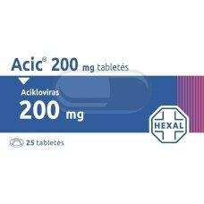 Acic 200 mg tabletės N25 (LI)