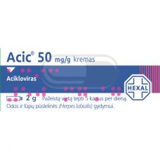 Acic 50mg/g kremas 2g (LI)