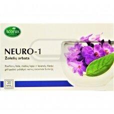 ACORUS CALAMUS žolelių arbata NEURO-1, 20 vnt., 1.5 g