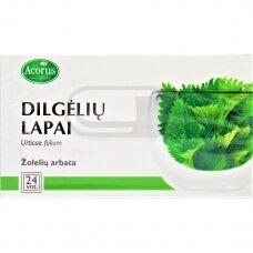 ACORUS DILGĖLIŲ LAPAI, 1 g, žolelių arbata, 24 vnt.