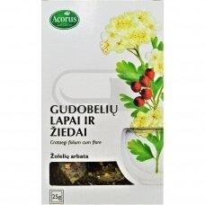 ACORUS GUDOBELIŲ LAPAI IR ŽIEDAI, žolelių arbata, 25 g