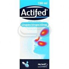 Actifed sirupas 100ml + matavimo šaukštas N1