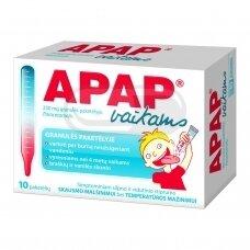 Apap 250 mg granulės paketėlyje, vaikams N10