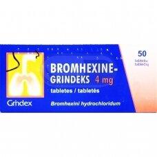 BROMHEXINE-GRINDEKS 4 mg tabletės N50