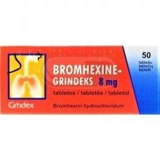 BROMHEXINE-GRINDEKS 8 mg tabletės N50