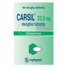 CARSIL 22,5 mg dengtos tabletės N80