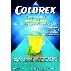 Coldrex HotRem Menthol Active 600 mg/10 mg/40 mg milteliai geriamajam tirpalui N10