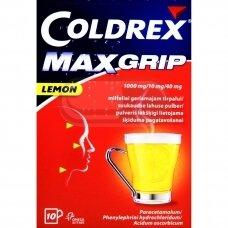 COLDREX MAXGRIP LEMON 1000 mg/10 mg/40 mg milteliai geriamajam tirpalui N10