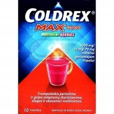 COLDREX MaxGrip MENTHOL & BERRIES 1000 mg/ 10 mg/ 70 mg milteliai geriamajam tirpalui N10