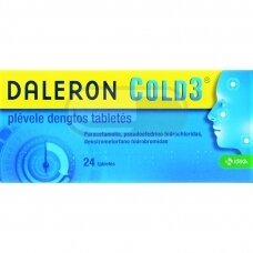 DALERON COLD3 plėvele dengtos tabletės N24