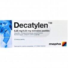 Decatylen 0,25 mg/0,03 mg kietosios pastilės N20