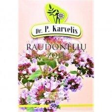 DR. P. KARVELIS RAUDONĖLIŲ ŽOLĖ, žolelių arbata, 50 g