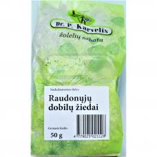DR. P. KARVELIS RAUDONŲJŲ DOBILŲ ŽIEDAI, žolelių arbata, 50 g