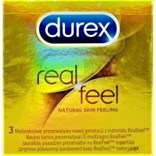 Durex prezervatyvai Real Feel N3