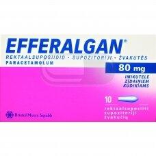 EFFERALGAN 80 mg žvakutės N10