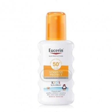 Eucerin Sensitive Protect Kids purškalas nuo saulės vaikams SPF 50+ 200ml