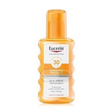 Eucerin Sensitive Protect skaidrus purškalas nuo saulės SPF 30 200ml