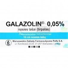 Galazolin 0.05% nosies lašai, tirpalas 10ml