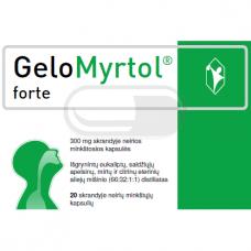 Gelomyrtol forte 300 mg skrandyje neirios minkštosios kapsulės N20 (LI)