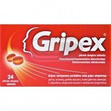 Gripex plėvele dengtos tabletės N24
