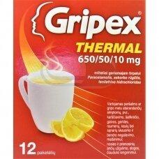 Gripex Thermal 650/50/10 mg milteliai geriamajam tirpalui N12