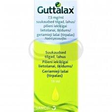 Guttalax 7.5mg/ml geriami lašai, tirpalas 15ml (LI)