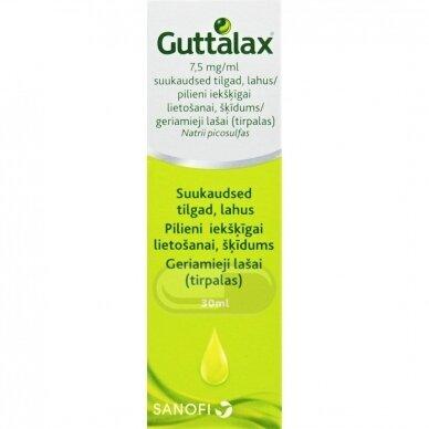 Guttalax 7.5mg/ml geriami lašai, tirpalas 30ml