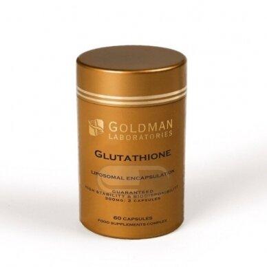 Liposominis (sauso pavidalo) maisto papildas GLUTATHIONE
