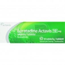 Loratadine Actavis 10mg tabletės N10
