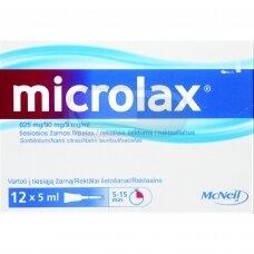 microlax 625 mg/90 mg/9 mg/ml tiesiosios žarnos tirpalas N12