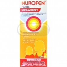 NUROFEN FORTE STRAWBERRY 40MG/ML GERIAMOJI SUSPENSIJA 100ML