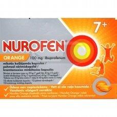 Nurofen Orange 100 mg kramtomosios minkštosios kapsulės N12