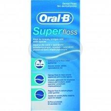 Oral-B Superfloss 50m Siūlai tarpdančiams valyti