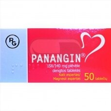 PANANGIN 158/140 mg plėvele dengtos tabletės N50