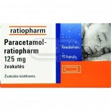 Paracetamol-ratiopharm 125 mg žvakutės N10