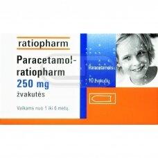 Paracetamol-ratiopharm 250 mg žvakutės N10