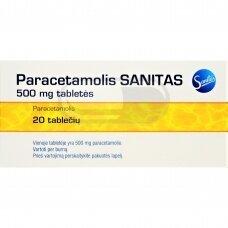 Paracetamolis SANITAS 500 mg tabletės N20