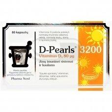 PHARMA NORD D-PEARLS Vitaminas D 3200 N80