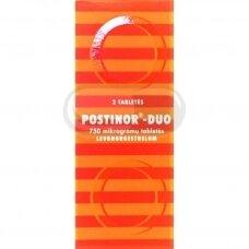 POSTINOR - DUO 750 mikrogramų tabletės N2