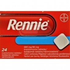 Rennie 680 mg/80 mg kramtomosios tabletės N24