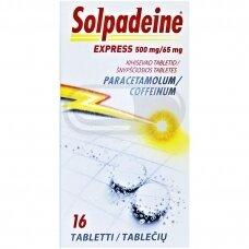 Solpadeine Express 500 mg/65 mg šnypščiosios tabletės N16