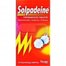 Solpadeine tirpinamosios tabletės N12