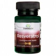 SWANSON Resveratrolis 100 mg N30