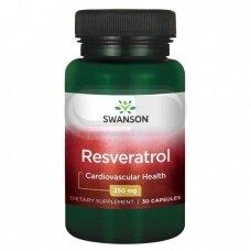 SWANSON Resveratrolis 250 mg N30