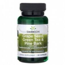 SWANSON Vynuogių sėklų, žaliosios arbatos ir pušies žievės kompleksas N60