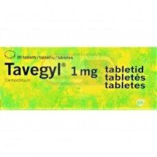 Tavegyl 1 mg tabletės N20