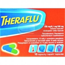Theraflu 500 mg/6,1 mg/100 mg kietosios kapsulės N16
