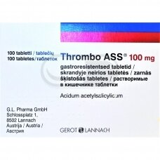 Thrombo ASS 100 mg skrandyje neirios tabletės N100