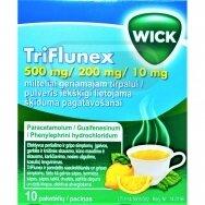 TriFlunex 500 mg/ 200 mg/ 10 mg milteliai geriamajam tirpalui N10